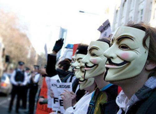 Хакеры из группировки Anonymous